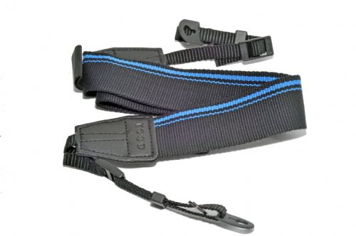 Kood High Quality Retro Style DSLR Camera Neck / Shoulder Strap  Blue / Black